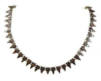 Czech Garnet Necklace - 1880