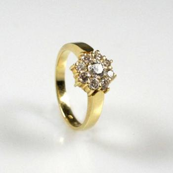 Ladies' Gold Ring - white gold, yellow gold - 1980
