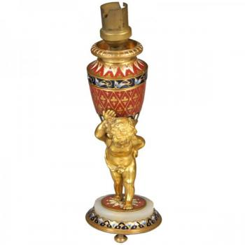Table Lamp - bronze, enamel - 1880