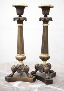 Pair of Candelsticks - brass - 1870