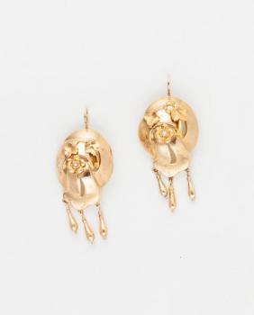 Gold Earrings - 1920