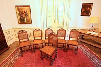Six Chairs - wood, solid wood - 1880