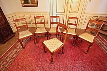 Six Chairs - wood, solid wood - 1890