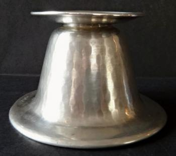 Low silver candleholder - Hermann Bauer