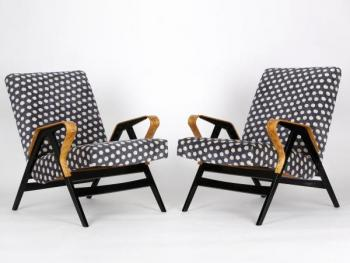 Mid-Century Armchairs from Tatra, 1960s, Set of Tw