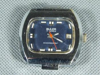 Wristwatch - steel - Buler - 1960
