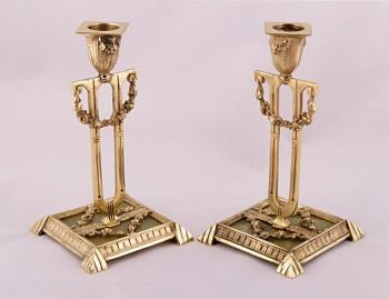 Pair of Candelsticks - brass - 1910