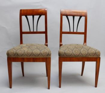Pair of Chairs - solid wood, cherry veneer - 1830