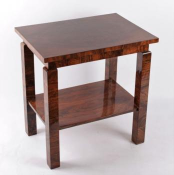 Coffee Table - solid wood, veneer - Art Deco Bohemia - 1930