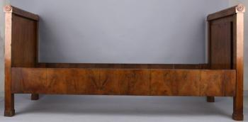 Bed - walnut wood - Biedermeier - 1830