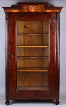 Display Cabinet - solid wood, spruce wood - 1870