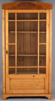 Display Cabinet - spruce wood - 1900