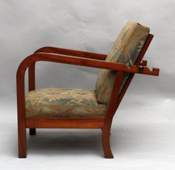 Armchair - solid walnut wood - 1930