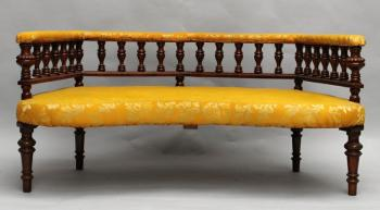 Sofa - solid walnut wood - 1900