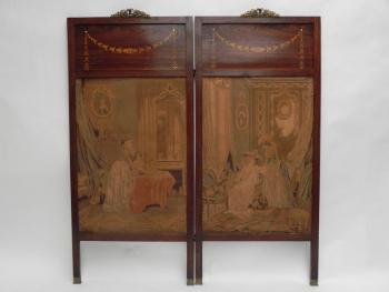 Screen - solid wood, stained veneer - 1910