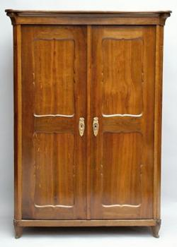 Wardrobe - oak - Biedermeier - 1880