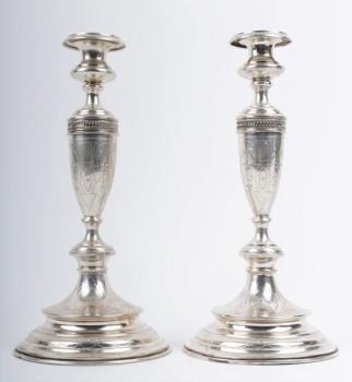 Pair of Silver Candelsticks - silver - 1900