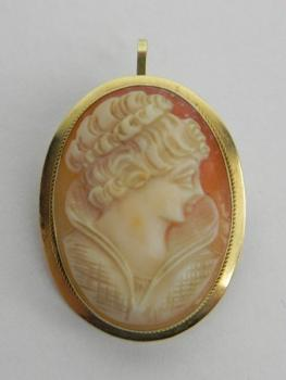 Cameo Brooch - gold, cameo - 1930