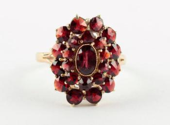 Ring - yellow gold, Almandine - 1920