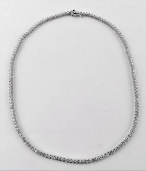Brilliant Necklace - white gold, brilliant cut diamond - 1970