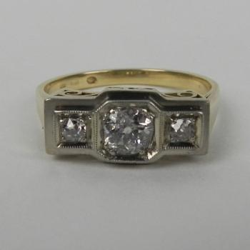 Ladies' Gold Ring - gold, diamond - 1930