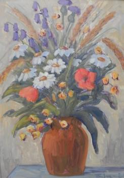 Still Life with Flowers - Šnajdr František (* 1. 9. 1914) - 1950
