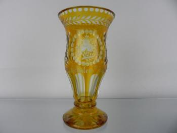 Vase - clear glass - 1920