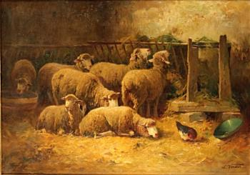 Still Life with Animals - Verdier Jean-Louis (1849-1895) - 1880