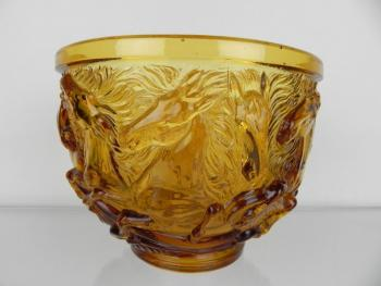 Glass Bowl - pressed glass - 1950