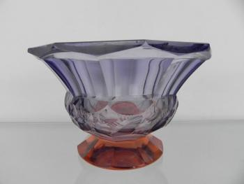 Glass Bowl - glass violet - 1950