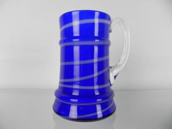 Glass Tankard - blue glass - 1930