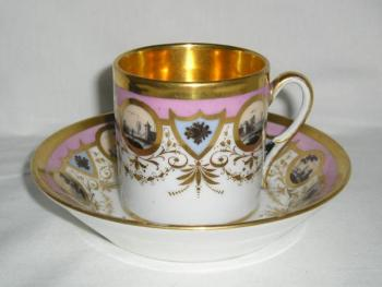 Cup and Saucer - painted porcelain - 1810