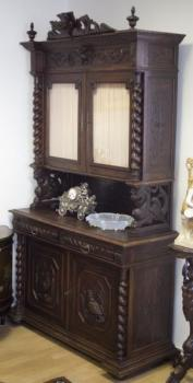 Cabinet - solid wood, brass - 1880