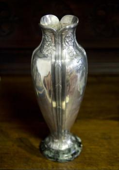 Vase - metal, marble - O. Gallia, France - 1910