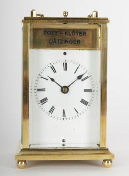 Alarm Clock - gilded brass, clear glass - 1870