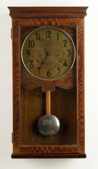 Wall Timepiece - wood, metal - 1900