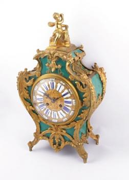 Clock - bronze, wood - 1830