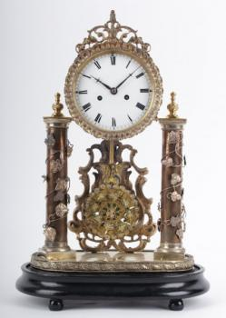Mantel Clock - wood, enamel - 1830