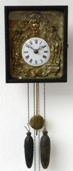Wall Timepiece - wood, enamel - 1870