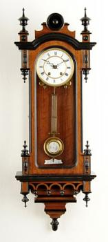 Wall Timepiece - wood, enamel - 1900