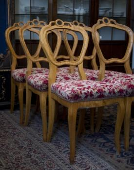 Six Chairs - solid wood - 1750
