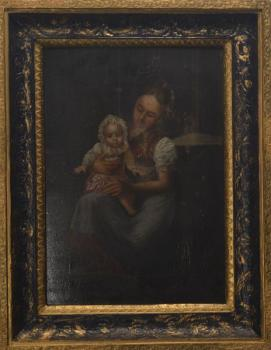 Woman with child - 1850