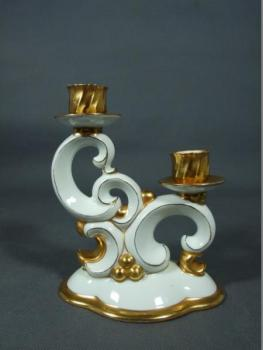 Porcelain Candle Holder - white porcelain - Victoria - 1930