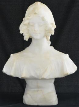 Bust of Woman - alabaster - G. Pochini - 1860