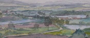 Landscape with ponds - signature unreadable