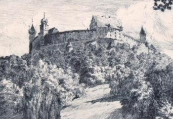 View of castle with fortification