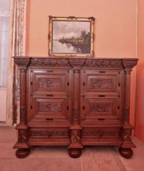 Commode - solid oak - 1880