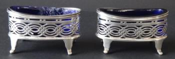 Oval Silver Salt & Pepper Containers - Williams