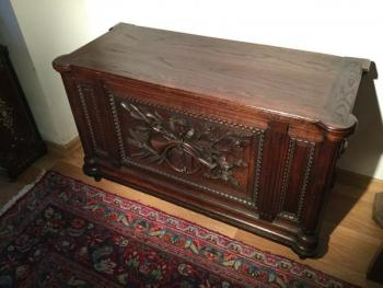 Chest - solid oak - 1900