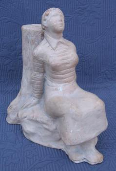 Ceramic Figurine - Woman - 1930